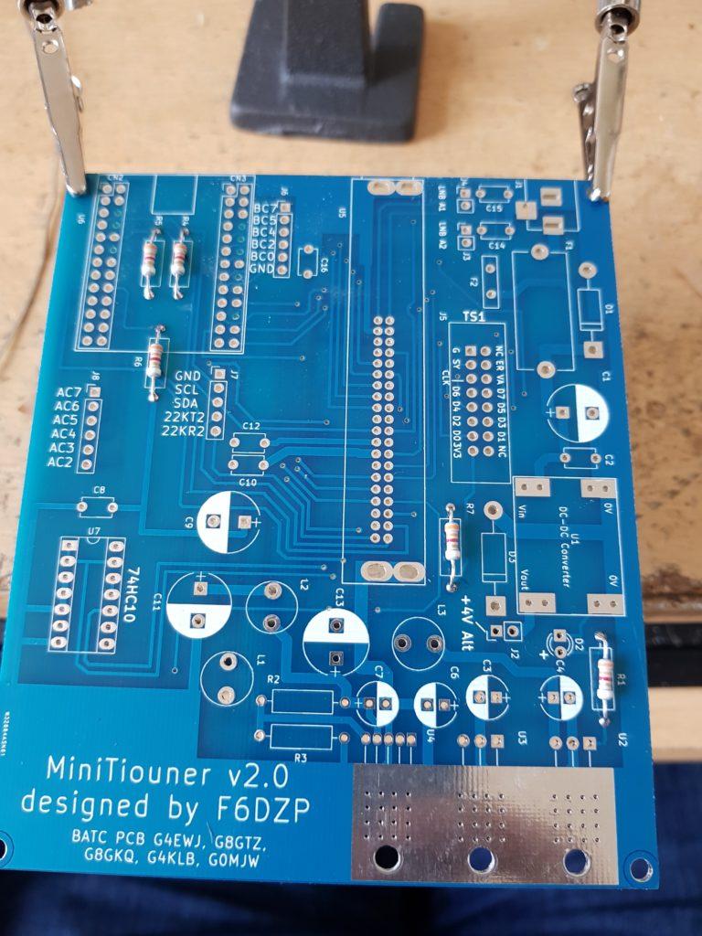 MiniTiouner V2 PCB Resistors