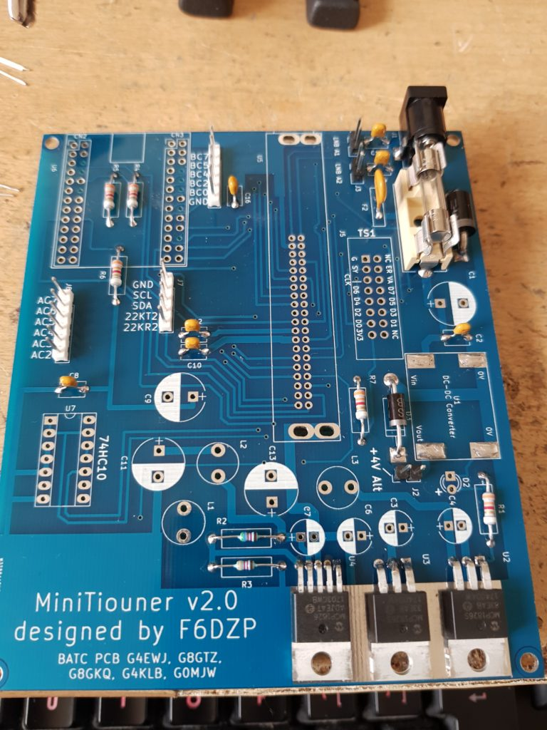 MiniTiouner V2 PCB DC Input and Voltage Regulators