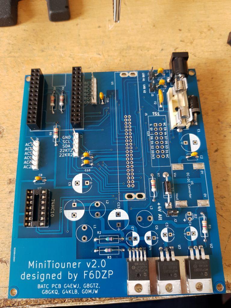 MiniTiouner V2 PCB Sockets