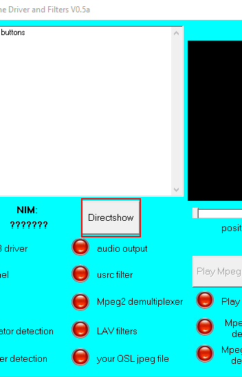 MiniTiouner Check Driver and filters, Directshow Tests