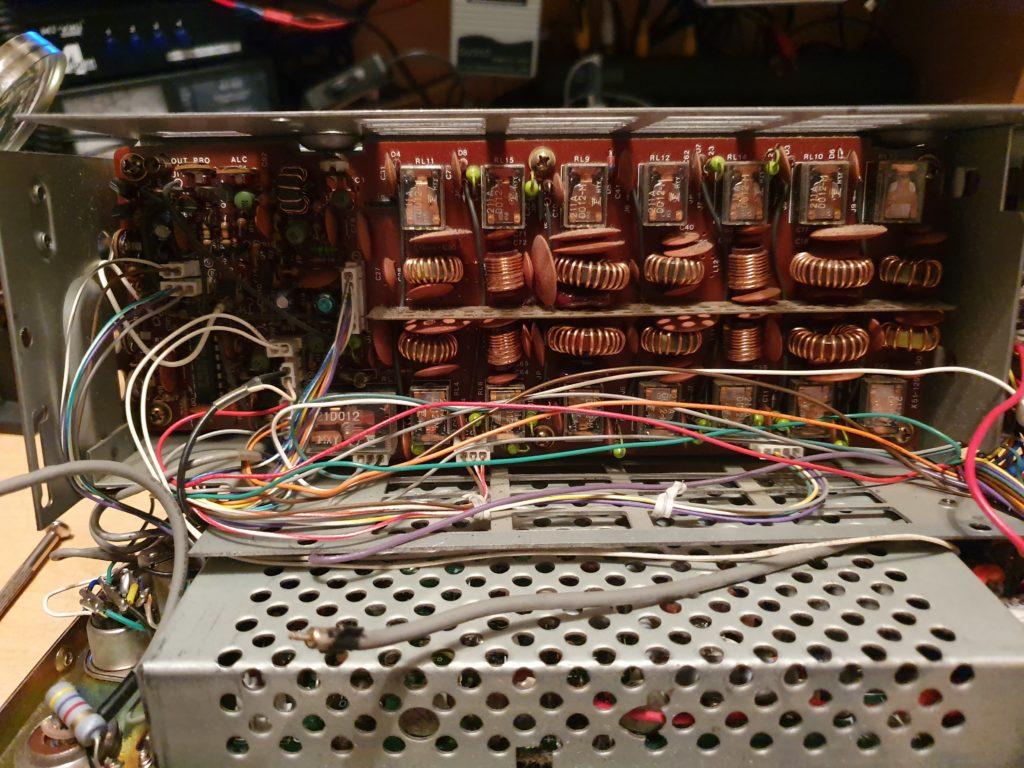 TS-403s Poor RX Problem - Filter Board Cables 8