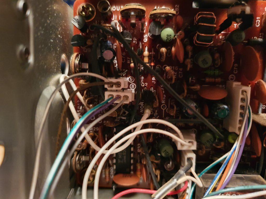 TS-403s Poor RX Problem - Filter Board Cables 5