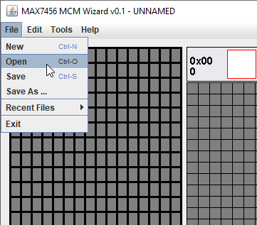 MAX7456 MCM Wizard open Font file